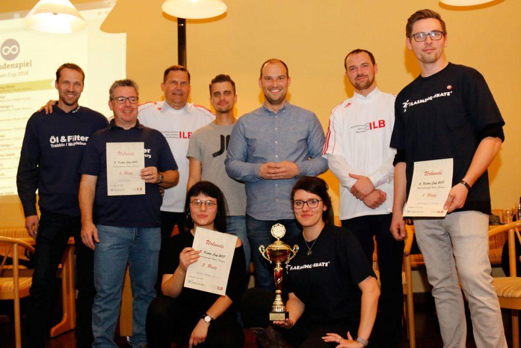 Die Sieger im 2. Kicker Cup Teltow-Fläming
