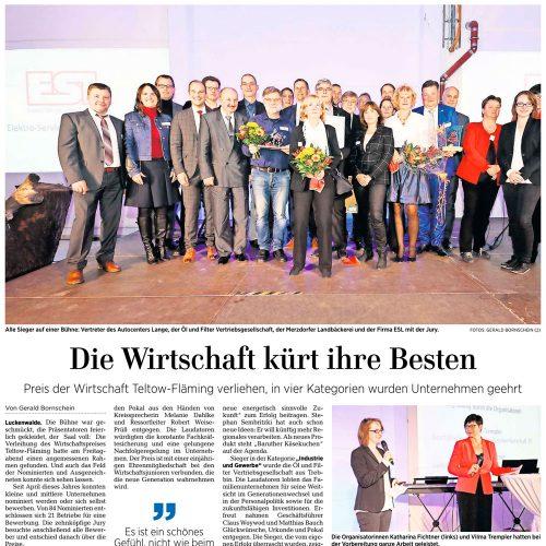 Artikel der Märkischen Allgemeinen vom 11.11.2019
