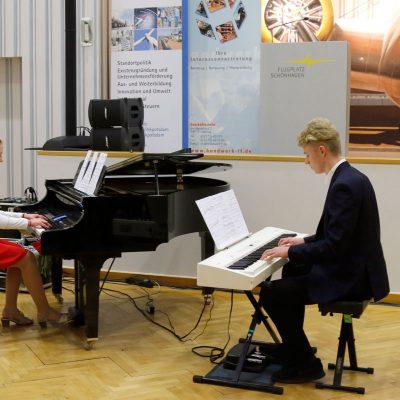 Musikalische Untermalung durch die Kreismusikschule