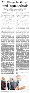 Artikel der Märkischen Allgemeinen vom 17. September 2021