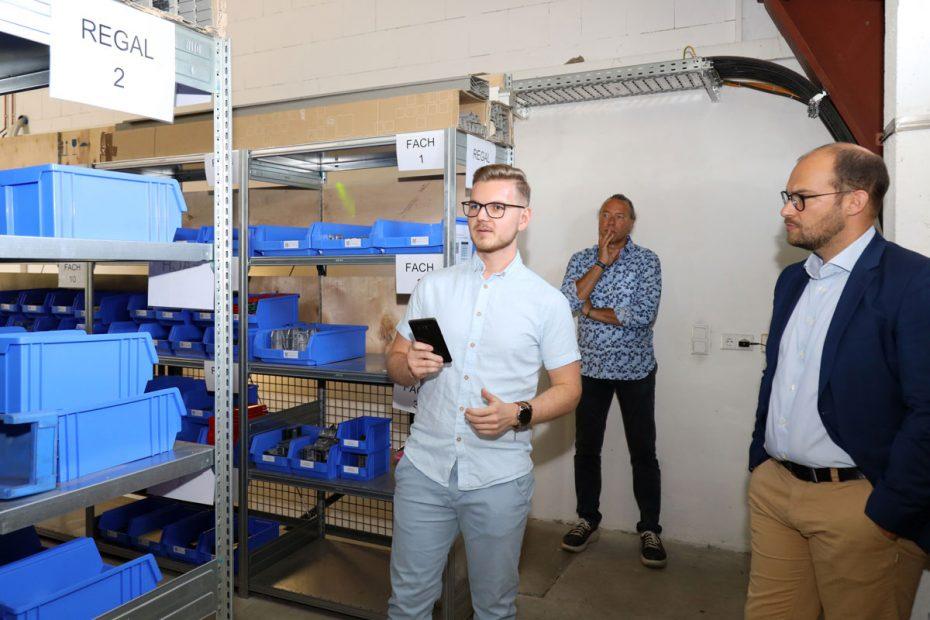 Die Digitalisierung des Lagers ist Justin Fiedlers Projekt