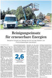 Artikel der Märkischen Allgemeinen vom 4. Oktober 2021