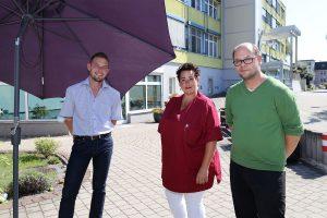 Schwester Heike mit Christian Gabriel (rechts) und Alexander Sadzio
